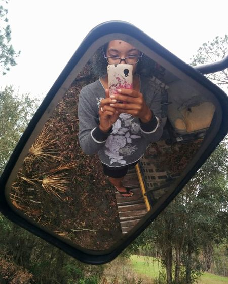 Dreaded Selfie Self Portrait Mirror Construction Site Construction Machinery Forgotten Things On A Hike Reflection