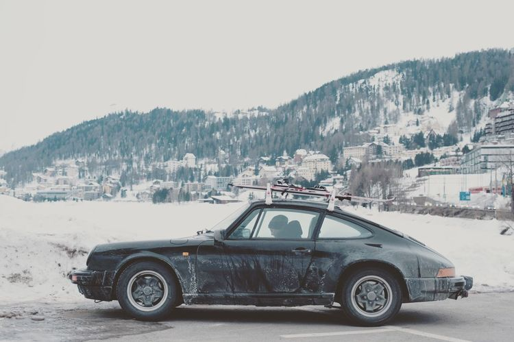 Stmoritz  Skiing Porsche Porsche 911 Aircooled Classic Car