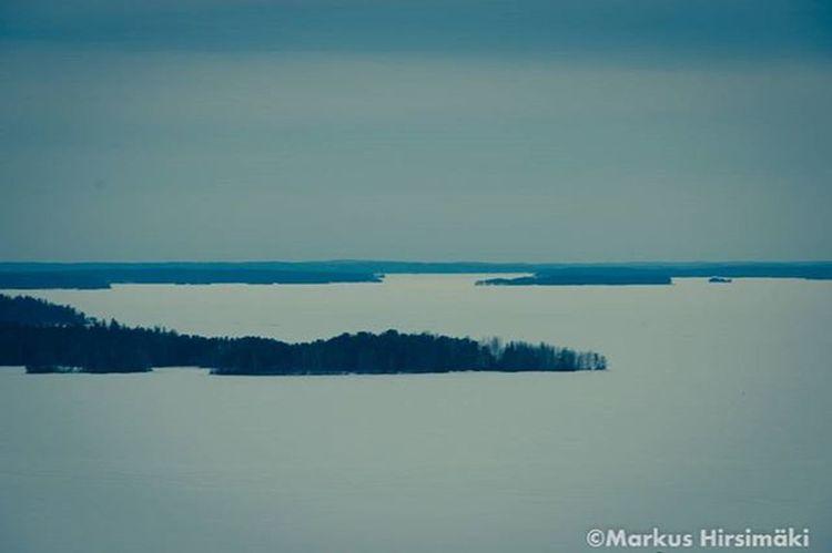 A view to north over frozen lake Näsijärvi, Tampere, Finland. Shotoncanon Canon_photos Winter Landscape Ig_myshot Tampere Finland Visitfinland