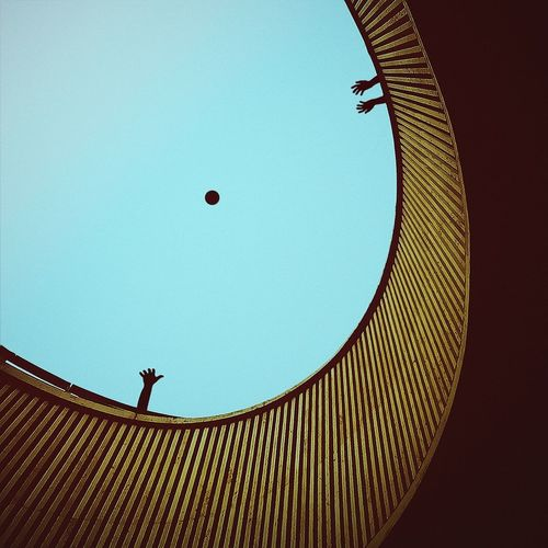 :: game above me :: Architecture Circle Day Directly Below Geometric Shape Hot Air Balloon Illuminated Lines Low Angle View Minimal Minimalism Modern No People Outdoors Sky Market Reviewers' Top Picks