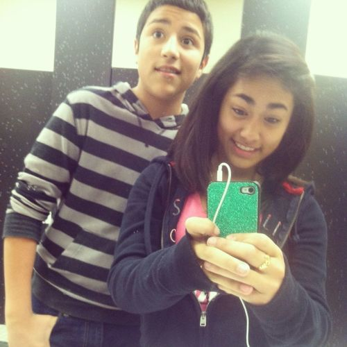 Yesterday when angel came in the girls restroom to take a picture with me cx