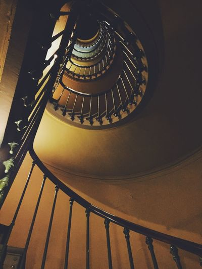 The secret stairs Steps And Staircases Spiral Staircase Staircase Steps Low Angle View Spiral Indoors  Architecture Built Structure Design Spiral Stairs Repetition No People Building Story Secret Intriguing Levels Climbing Exploring Wall Helicoidal Moody Interior Brown