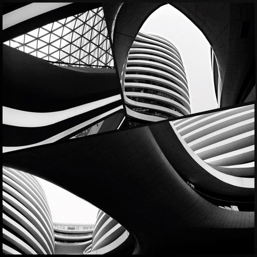 Architecture Built Structure Modern Pattern Building Exterior Modern Photography Ginza Soho Beijing, China Zaha Hadid