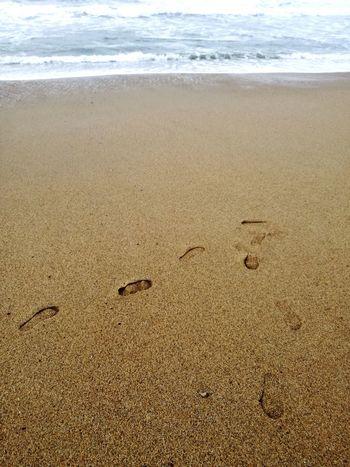 Sea Wave Sand Beach Water Tranquility Walking On The Beach Traces In The Sand Traces De Pas Traces Ocean Ocean Beach Ocean Waves