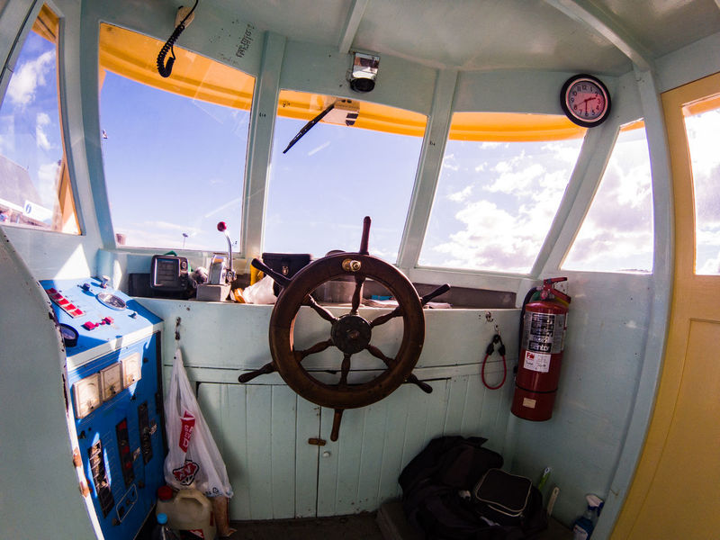 the inside of a ferry russel at the bay of islands in new zealand Bay Of Islands Travel Cloud - Sky Control Day Glass - Material Indoors  Mode Of Transportation Nature Nautical Vessel New Zealand No People Public Transportation Ship Sky Steering Wheel Transparent Transportation Travel Vehicle Interior Vehicle Seat Wheel Window The Traveler - 2018 EyeEm Awards