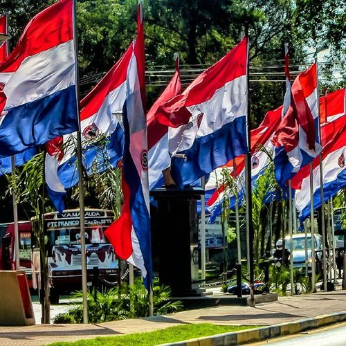 Flag Flags Bandera Paraguay Great_captures_paraguay City Mayo Patria Country Pic Picoftheday Ciudaddeleste Street Color Colors