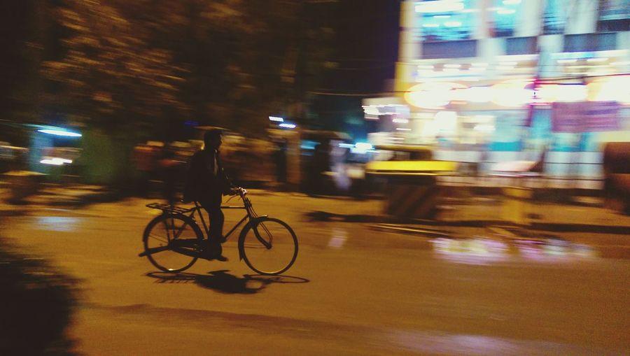 Panning Cyclist Nightphotography HTC Manual Randomshot EyeEm Best Shots EyeEm EyeEm Gallery EyeEmbestshotsindiabangalore #india