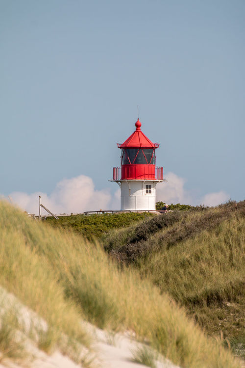 Amrum Architecture Beauty In Nature Building Exterior Built Structure Day Field Grass Growth Lighthouse Low Angle View Nature No People Outdoors Plant Red Scenics Sky Tranquil Scene Tranquility EyeEmNewHere