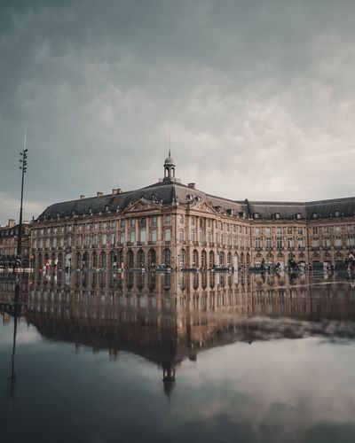 Bordeaux Bordeaux Mirroirdeau Architecture Building Exterior Built Structure Sky Water Cloud - Sky Travel Destinations City Reflection Travel Building Tourism History No People Politics And Government Outdoors Government The Past