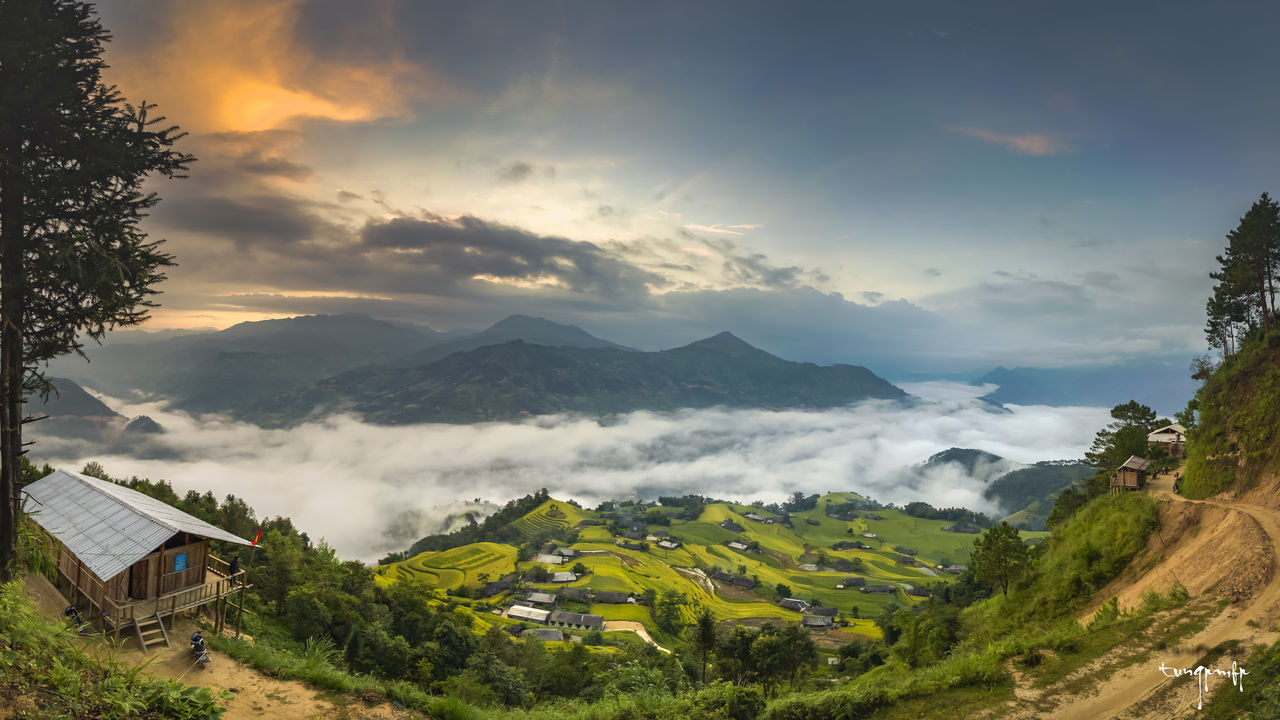 Ban Phung, Hoang Su Phi, Ha Giang, Viet Nam. Beauty In Nature Cloud - Sky Landscape Nature No People Outdoors Sky Tree