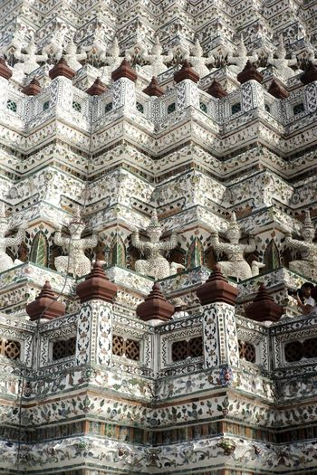 A view from Wat Arun Travel Destinations Travel Wat Arun Wat Arun (Temple Of Dawn) Temple Bangkok Buddist Temple Backgrounds Full Frame Textured  Pattern Abstract Close-up Seamless Pattern