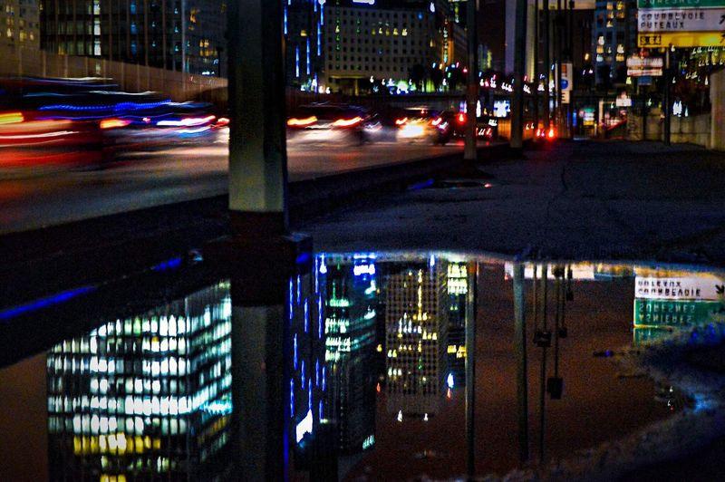 The City Light Illuminated Transportation Building Exterior Architecture Night City Land Vehicle