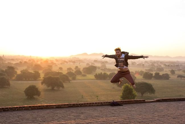 The Action Photographer - 2015 EyeEm Awards Jump Myanmar Burma Bagan Sunrise Lively Fun Freedom Summer Sunset Tranquil Scene Nature One Man Energy Energetic Outdoors Crazy Capture The Moment 43 Golden Moments