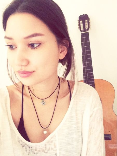 Guitar Music Necklace Hairstyle Girl Faces Of EyeEm Sundaze Chilling Jamming Love