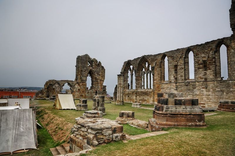 Whitby Whitby Whitby Abbey Architecture History Sky Built Structure The Past Ancient Day Grass Nature Old Ruin Grave No People Cemetery Old Clear Sky Building Exterior Ancient Civilization Travel Destinations Tombstone Tourism Outdoors Archaeology Ruined