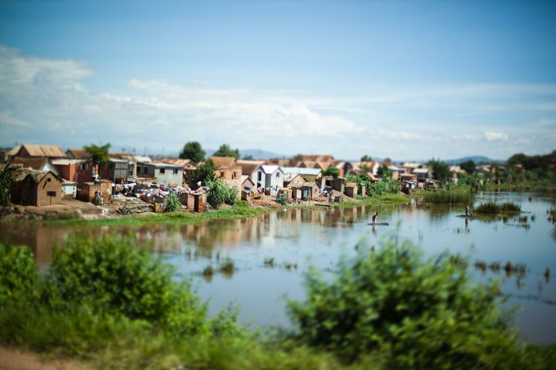 On the road of Antananarivo Tananarive Antananarivo On The Road Madagascar  Water Building Exterior Built Structure Sky Building Plant Lake Town Day Outdoors House