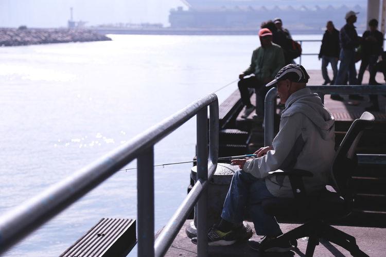 Fish man Pier Relaxing HongKong Lifestyles Sky Lonely Free Mood Morning Fisherman EyeEmNewHere