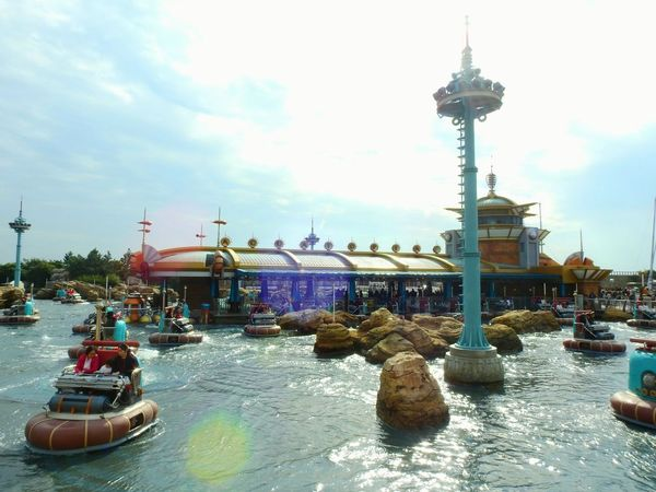 Disneysea. Urayasu. Tokyo. Japan. Reflctions Beautiful High Angle View Multi Colored Landscape Streetphotography Travel Destinations Park Nautical Vessel Outdoors Water Sky Large Group Of People Day People