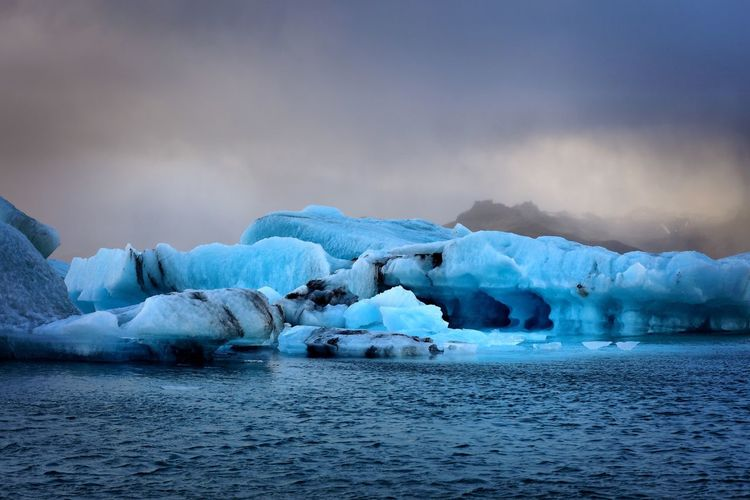 Iceland - icebergs Cold Temperature Ice Winter Frozen Weather Beauty In Nature Nature Glacier Iceberg Iceberg - Ice Formation Waterfront Sea Tranquility Scenics Water Outdoors Tranquil Scene Floating On Water Sky No People