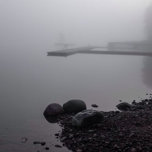Fog Over Water Calmwater Nature_collection Stockholm Archipelago The KIOMI Collection