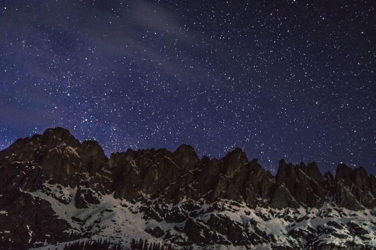 Nightphotography Mountains Mühlbach Austria Nikon D3300 Nikon Lightroom Photography