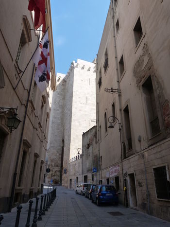 https://en.m.wikipedia.org/wiki/Torre_dell%27Elefante Tower Ancient Tower Cagliari, Sardinia Sardinia Sardegna Italy  Sardinia Sardegna City Low Cityscape Sky Architecture Building Exterior Built Structure Historic The Way Forward Pathway Tall - High Passageway Walkway