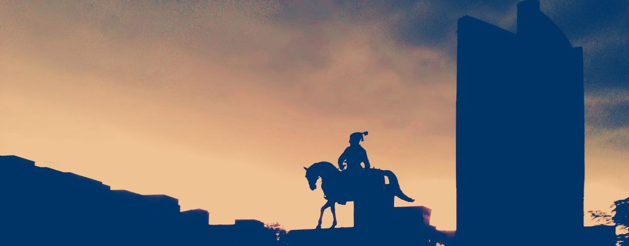 My Year My View Sculpture Sky Sunset Statue Silhouette History Outdoors No People Day Rear View One Man Only Great Leader Respect Good Human Being Kind King King Of Hearts