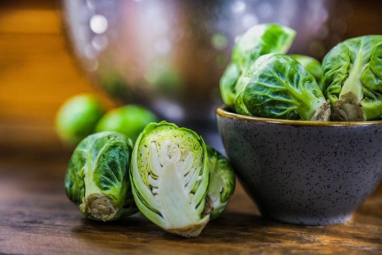Close-up of sprouts on table
