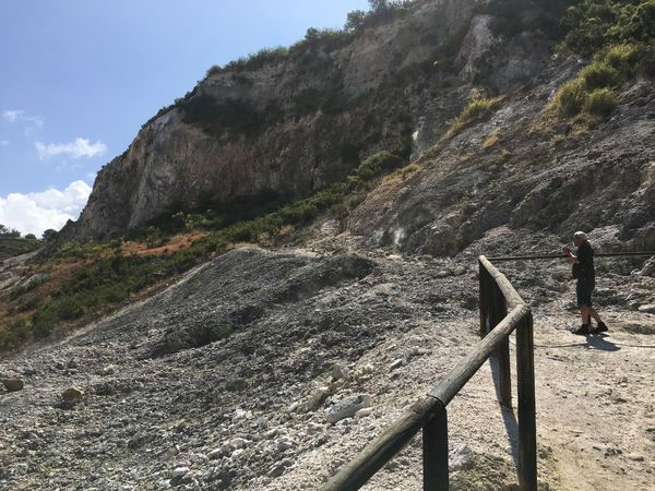 Italy Activity Adventure Beauty In Nature Day Environment Formation Full Length Hiking Leisure Activity Lifestyles Mountain Mountain Range Nature Non-urban Scene One Person Outdoors Real People Scenics - Nature Sky Standing Tranquility