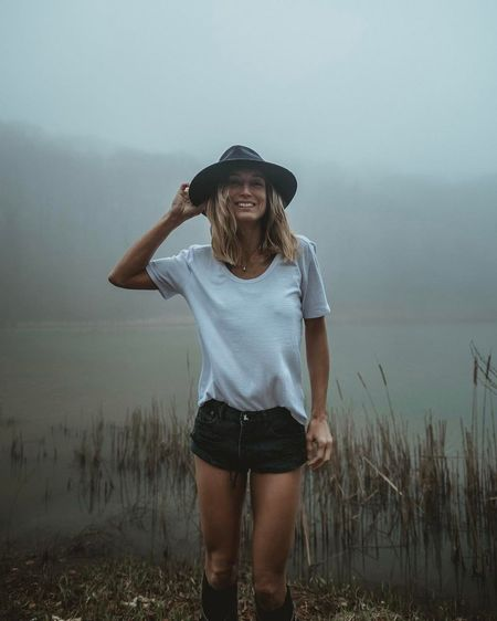 Front View One Person Only Women Standing One Woman Only Mid Adult Adult Adults Only People Outdoors Day Nature Portrait Grass Sky Breathing Space