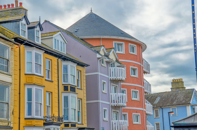 Architecture Building Exterior No People Built Structure Multi Colored Sky Aberystwyth Architecture
