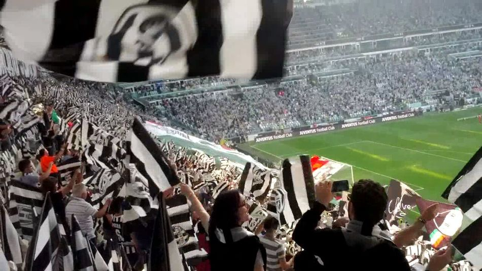 Football Fever Juventus Stadium Juventus Fc Black And White Color Juventus Fan Flags Black And White Flags