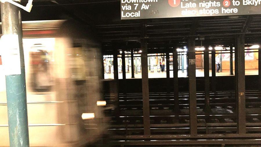 Public Transportation Transportation Train - Vehicle Rail Transportation Indoors  Railroad Station Railroad Station Platform Mode Of Transport Blurred Motion Illuminated No People Day New York City Let's Go. Together.