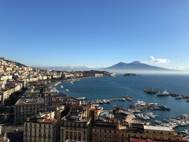 Golfo di Napoli #naples #italy #Italia #napoli Architecture Building Exterior Built Structure Water Outdoors City High Angle View Sea Blue Cityscape Sky Mountain Travel Destinations Day No People Clear Sky Nature Town