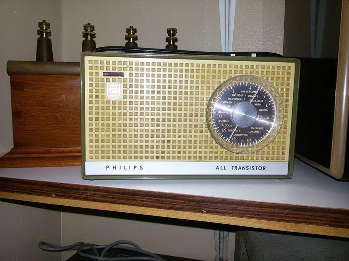 Vintage Radio Vintage Philips Vintage Transistor Radio No People