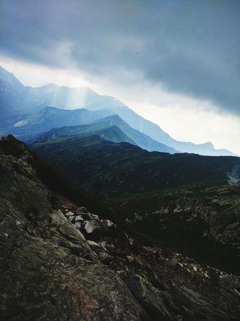 Mountain Fog Cold Temperature Sky Landscape Mountain Range Cloud - Sky Majestic Calm Dramatic Sky Romantic Sky