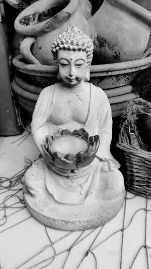 Buddha Black White Buddha Black Blackandwhite White Lovely Love Rainy Rainy Days Chillout Chillout Day Chilling Chill Mode Stillleben Make My Day StillLife Beauty Still Grey Old School Statue Religion Sculpture Spirituality No People Indoors  Day