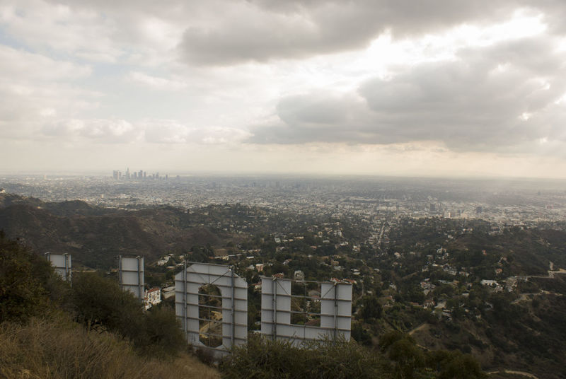 Hollywood Hollywood Hills City Cityscape Clounds  Day Downtown Los Angeles Haze No People Outdoors Sky
