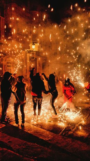 Correfocs Benifaió 2015  First Eyeem Photo Fire Fireworks Redlight