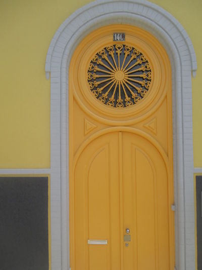 Paint The Town Yellow Architecture Closed Doors Colorful Day Lisbon Detail No People Yellow Yellow Door