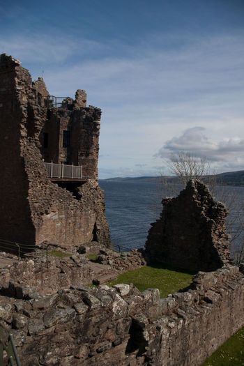 Scotland UrquhartCastle Ancient Civilization Architecture Beauty In Nature Building Exterior Built Structure Cloud - Sky Day Loch Ness Mountain Nature No People Old Ruin Outdoors Scenics Sea Sky Sunlight Tranquility Water