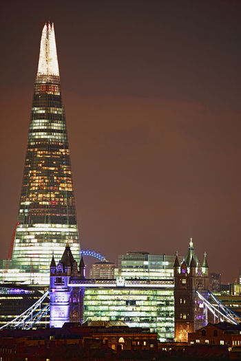 The Shard & Tower Bridge by Kadeen's Media Imagine Create Behold Canon 6D Canonphotography 70-300mm Canon Lens Landscapephotographer Nightscape Londonatnight Tower Bridge  Theshard London Eye London Nights Welcomeweekly Cities At Night