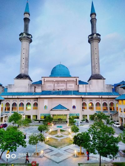 IIUM mosque Politics And Government City Dome Place Of Worship Modern Arrival Religion Sky Architecture Built Structure