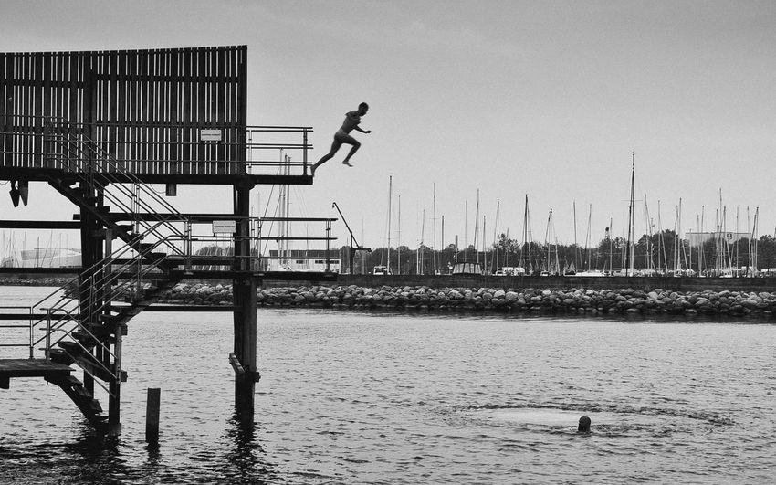 Jumping men at