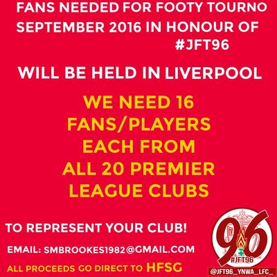 Right guys who's up for this !!! Let's start it off I need 16 #LFC Fans To Play, and 16 #EFC Fans .. #JFT96 #YNWA RT