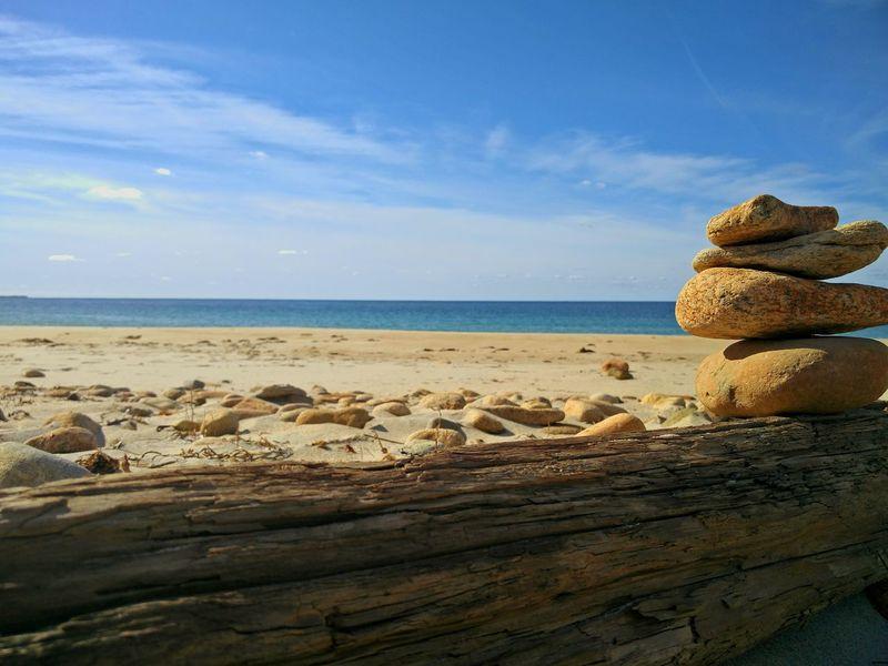 Wood Pile Of Stones Sunlight ☀