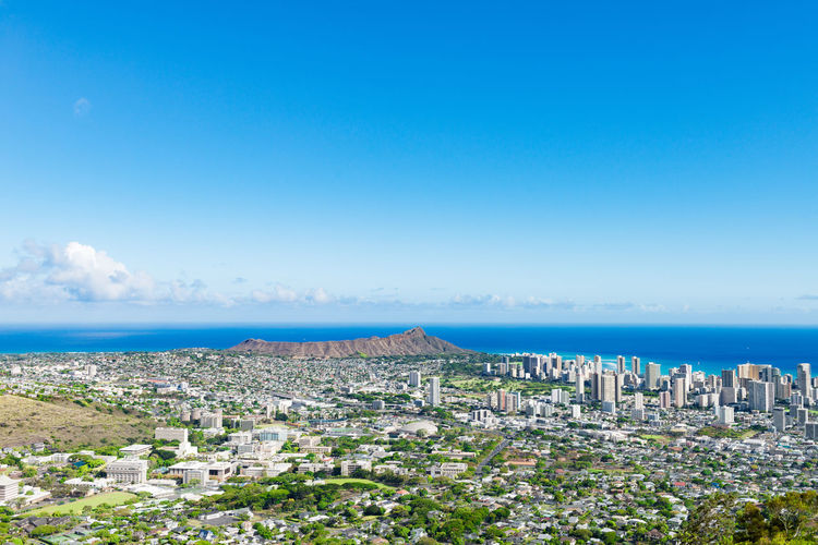 Architecture Beauty In Nature City Cityscape Hawaii High Angle View Horizon Over Water Landscape Nature Oahu Scenics Sea Travel Traveling United States USA