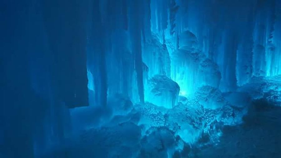 ice caves Frozen Night Glacier Beauty In Nature Cold Temperature Beauty