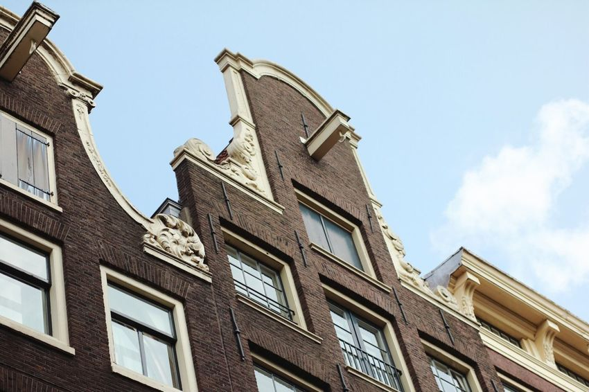 EyeEm Selects Building Exterior Architecture Low Angle View Built Structure Window Day Sky Outdoors No People Amsterdam Amsterdam Architecture The Graphic City