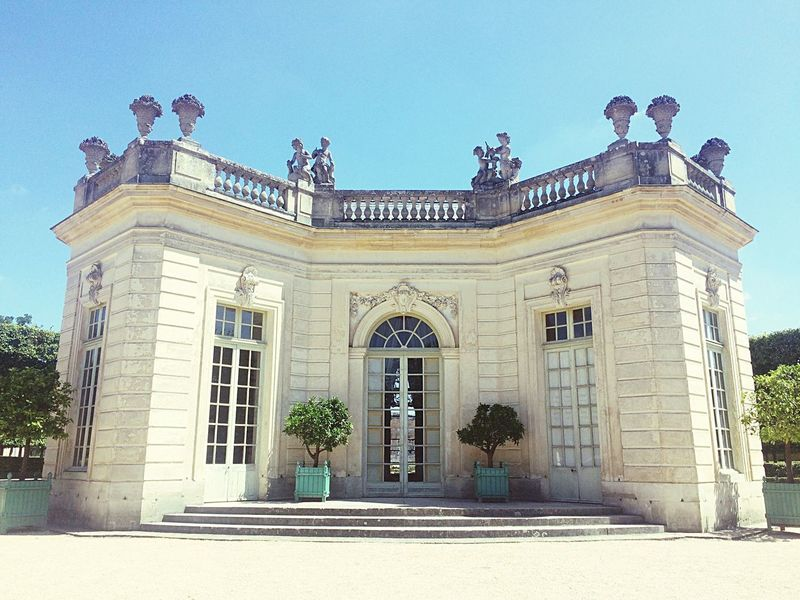 Architecture Building Exterior Built Structure Façade Outdoors Petit Trianon Versailles Clear Sky Tree No People Sky